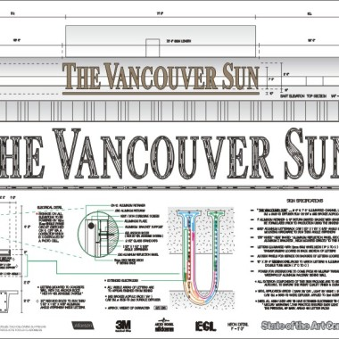 Vancouver Sun Engineered Drawing