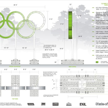 Olympic Rings - Biathlon Engineered Drawing