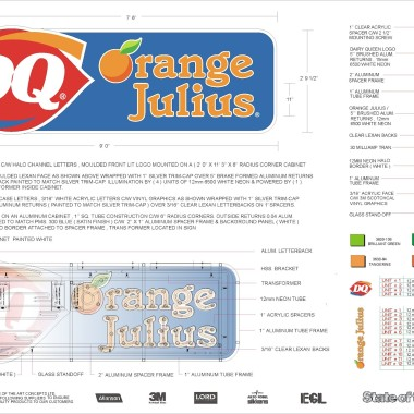 Dairy Queen / Orange Julius Engineered Drawing