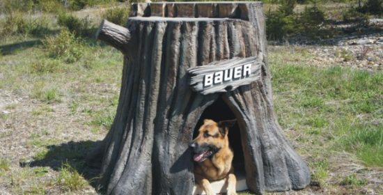 Tree stump - Custom doghouse