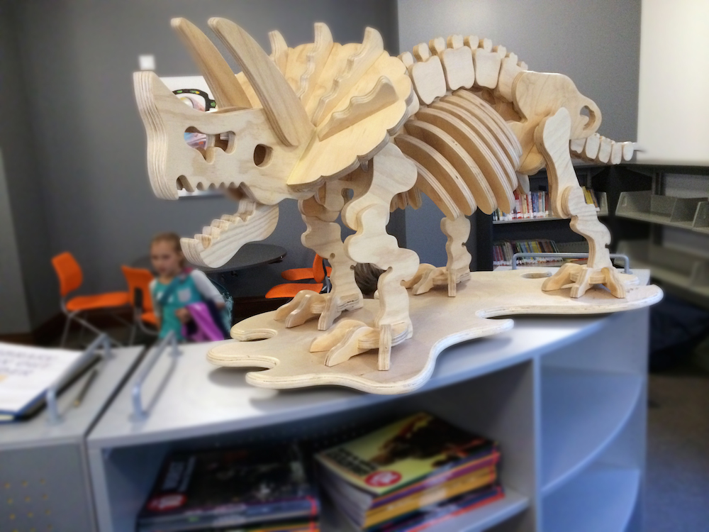 Triceratops at Linbrook School for Boys