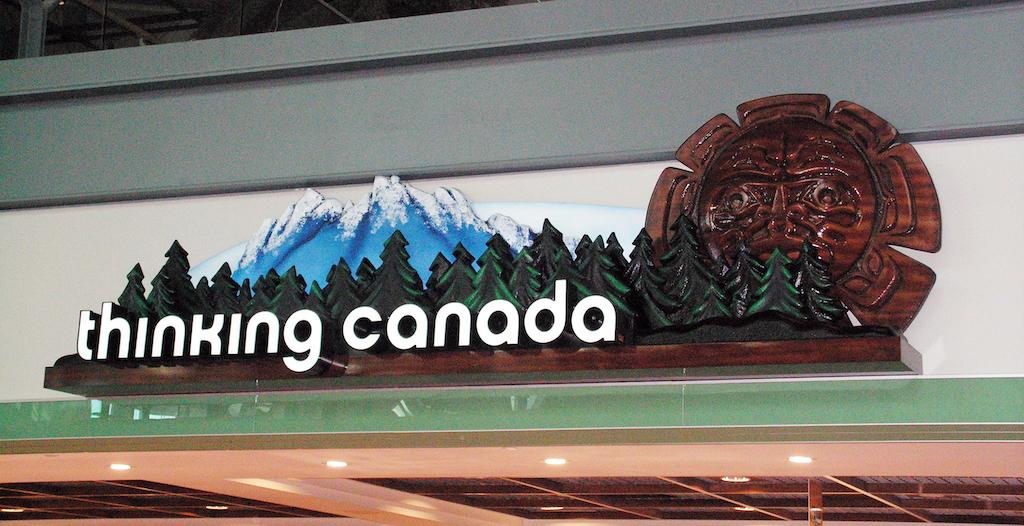 Thinking Canada YVR Sign